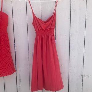 Open back coral sundress